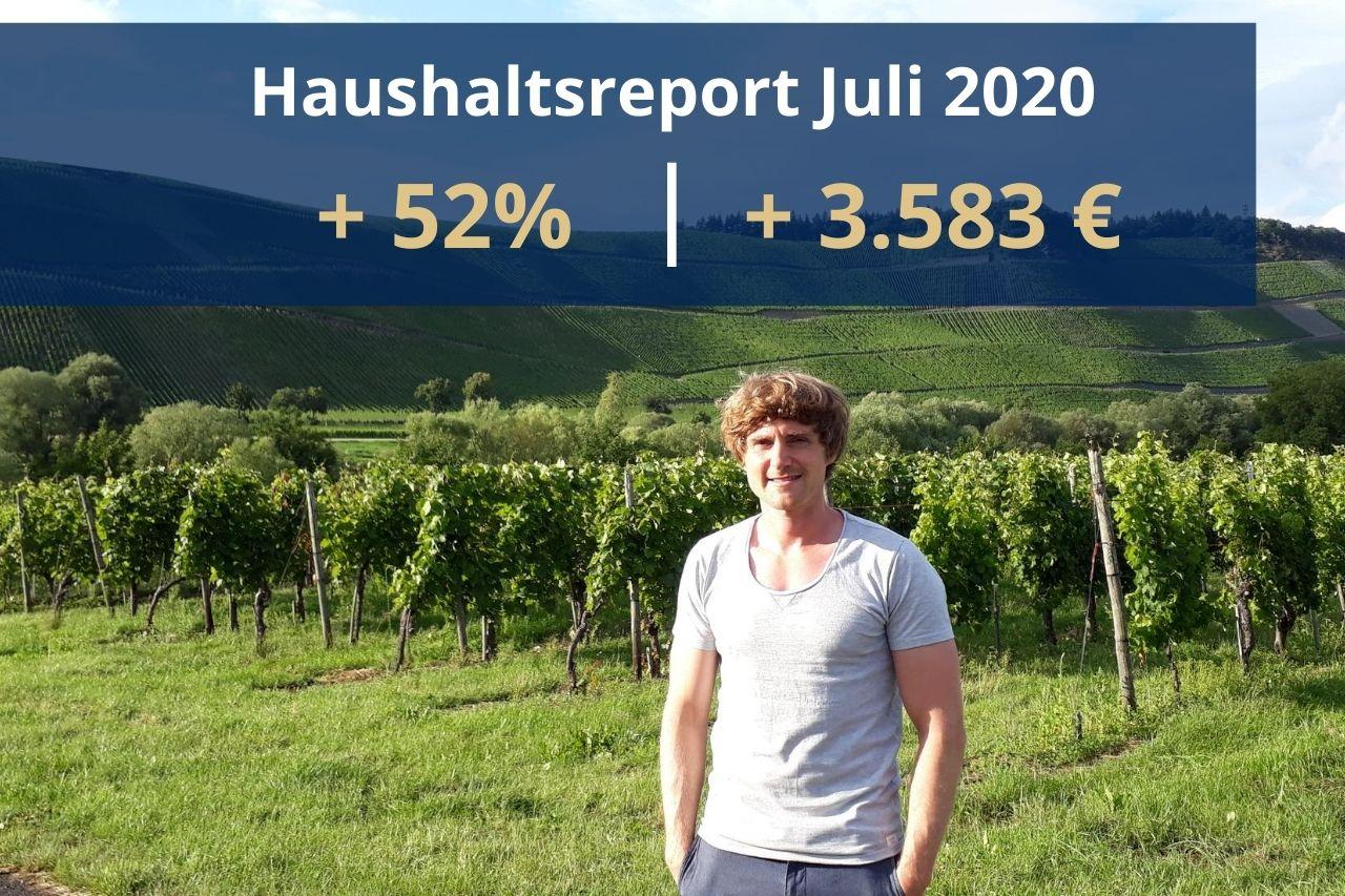 Haushaltsreport Juli 2020